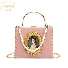 Rose pochette de mariage sac à main femmes sacs de soirée perle perlée sac à main strass petits sacs à bandoulière FTB161