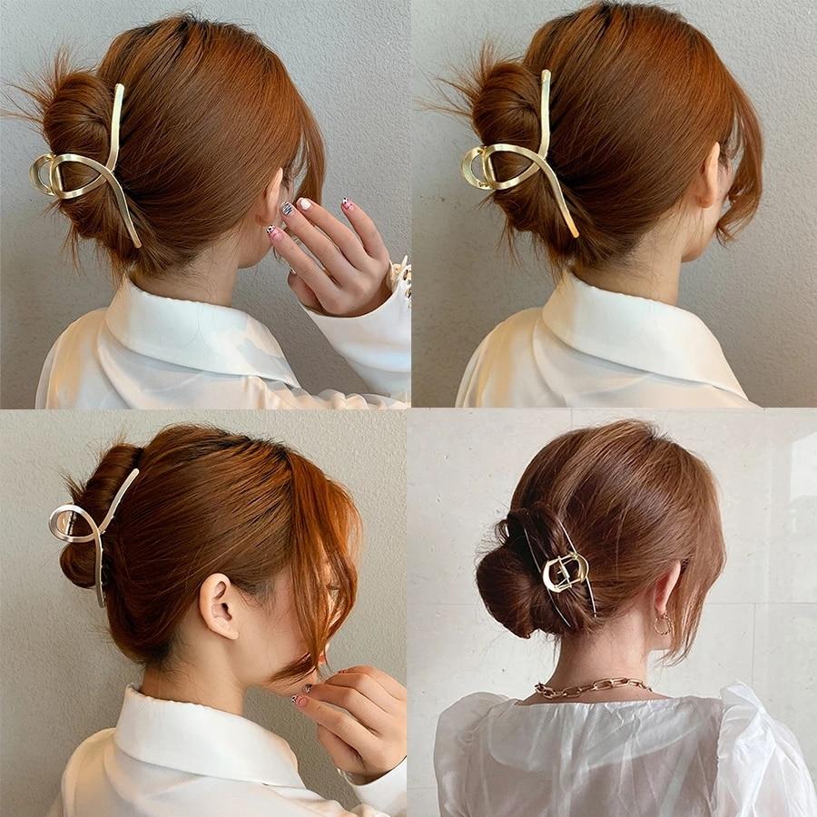 Qadın barretler, metal saç caynaqları, saç aksesuarları, saç - Geyim aksesuarları - Fotoqrafiya 2