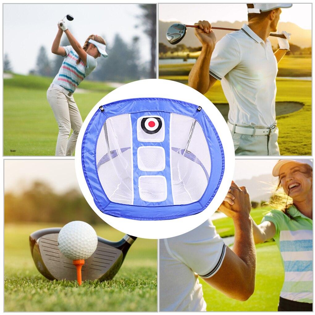 Портативная Складная сетка для игры в гольф, Складная сетка для тренировок в помещении и на улице с сумкой для хранения, синего цвета