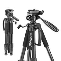 Neewer Camera Tripod Portable 56 inches/142cm Aluminum 3-Way Swivel Pan Head+Carrying Bag for Canon Nikon Sony DSLR Camera