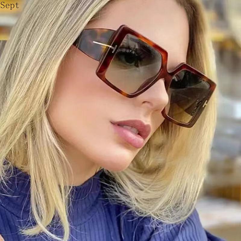 New  Fashion Sun Glasses Shades Oversized Square Sunglasses Vintage Design Women UV400 Men Luxury Brand Male Female Eyewear oversized square sunglasses big frame men women luxury sun glasses flat top mirror shades vintage eyewear male female uv400