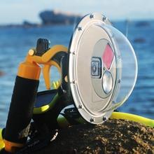 Чехол SOONSUN для подводного плавания с купольным портом, водонепроницаемый корпус, купольная крышка объектива для GoPro Hero 7 6 5 Black Go Pro 7, аксессуары