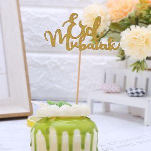 5pcs Muslim Islam Eid Mubarak Cake Topper Wedding Baby Shower Birthday Party Ramadan Decor Cupcake Picks Baking