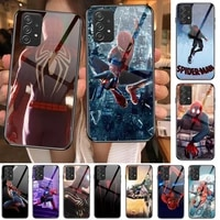 spiderman homecoming marvel tempered glass case phone for samsung galaxy a51 a71 a60 a70s a70 a80 a21s a41 a20e a50 a30s 5g a32