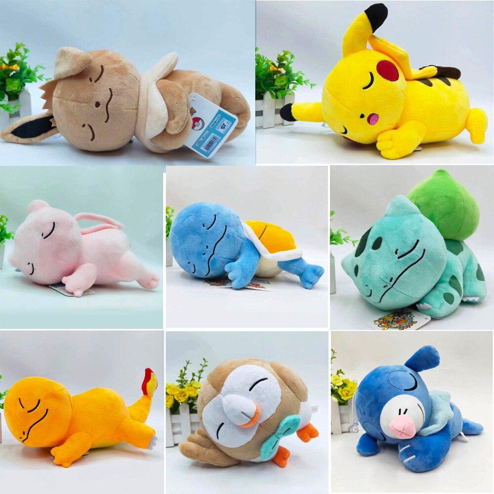 Takara Tomy muñecas nuevo Pokemon manga Pikachu squirtle charmander Venusaur mewtwo de felpa juguetes de peluche Animal 20cm 9 unids/set