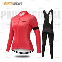 lady cycling clothing long sleeve ride jersey set women spring autumn bike training uniform mtb beathable maillot ropa ciclismo