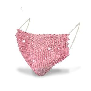 Fashion Sparkly Rhinestone Mask Elastic Reusable Washable Fashion Masks Face Bandana Face Decor Jewelry