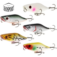 WALK FISH 1Pcs 7cm 7.4g Popper Fishing Lures 3D Eyes Bait Crankbait fishing tackle