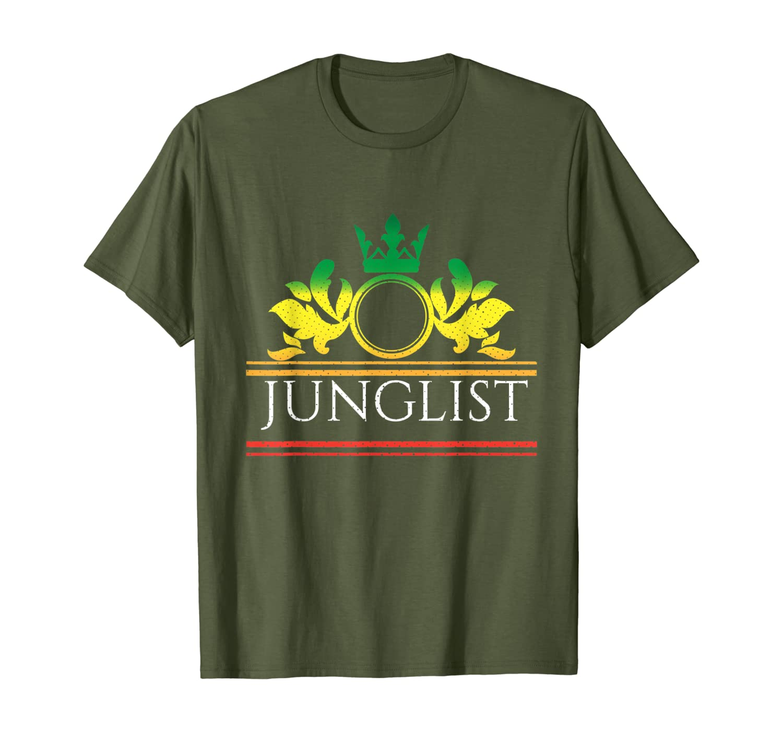 junglist movement Junglist массивная Футболка DnB с барабаном и басом