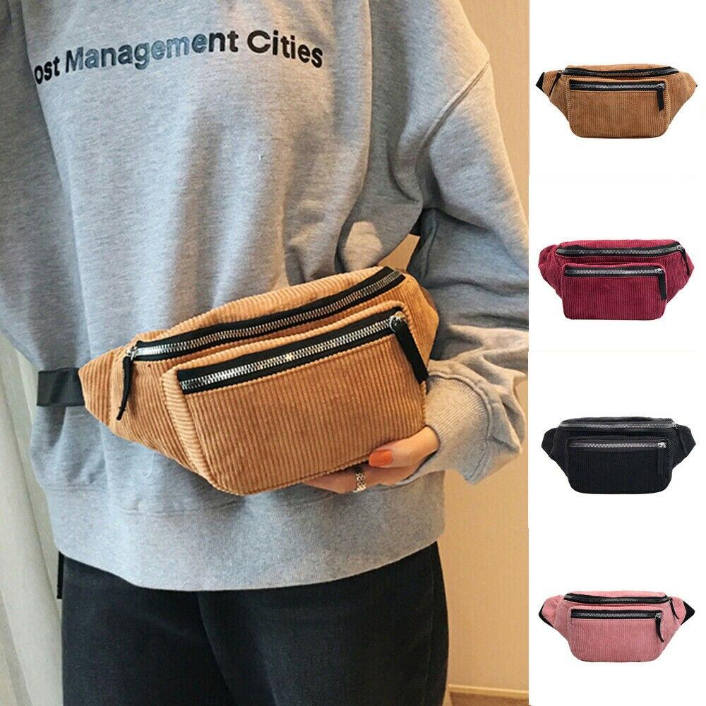 Bolso de moda para mujer, riñonera, monedero, bolsa de viaje para vacaciones, riñonera de pana, riñonera, bolso Clásico deportivo, paquetes