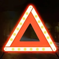 40 dropshippingwarning sign folding sturdy abs car warning triangle emergency reflector for parking