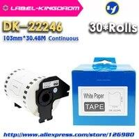 30 rolls generic dk 22246 label 103mm30 48meter compatible for brother label printer ql 1100ql 1110nwb