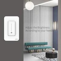 Interrupteur variateur de lumiere intelligent  wi-fi  application Tuya pour Alexa Google Home  commande vocale  LED  sans Hub  nouveau