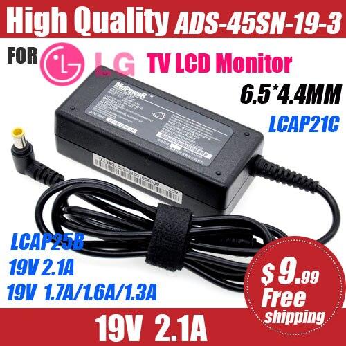 19V 2.1A /1.6A para LG Monitor LCD TV adaptador de CA cable de alimentación 32LH510 LCAP21C LCAP25B ADS-45SN-19-3 E2251S E2251T E2051S