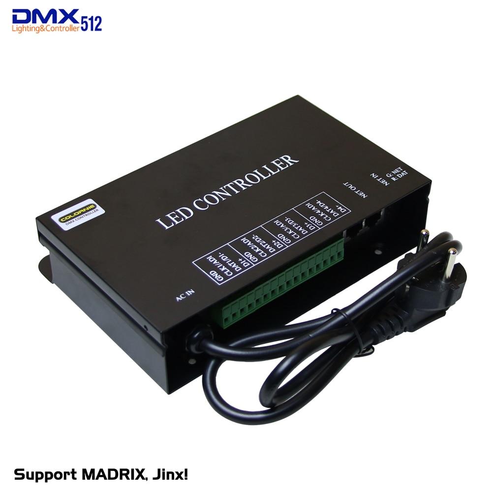 Бесплатная доставка DHL, лидер продаж, 5 шт./лот, светодиодный контроллер Artnet, 4 Универсальные 512 каналов, поддержка MADRIX Jinx! И т. Д. Может установи...