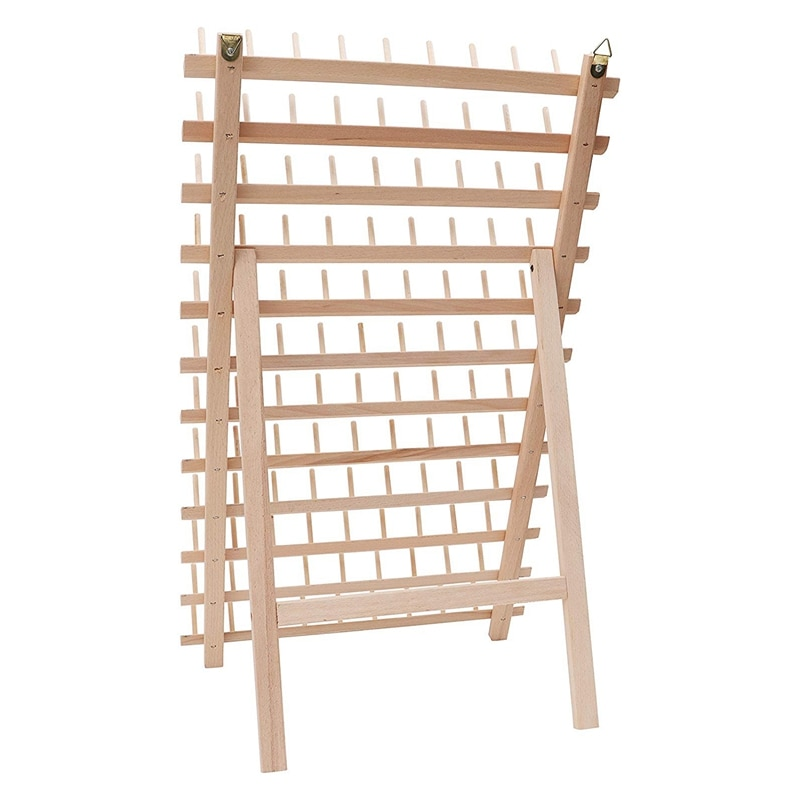 Soporte de rosca plegable de madera, soporte de carrete de cono de bobina de 120, organizador de roscas, soporte de carrete de montaje en pared, máquina Sewin