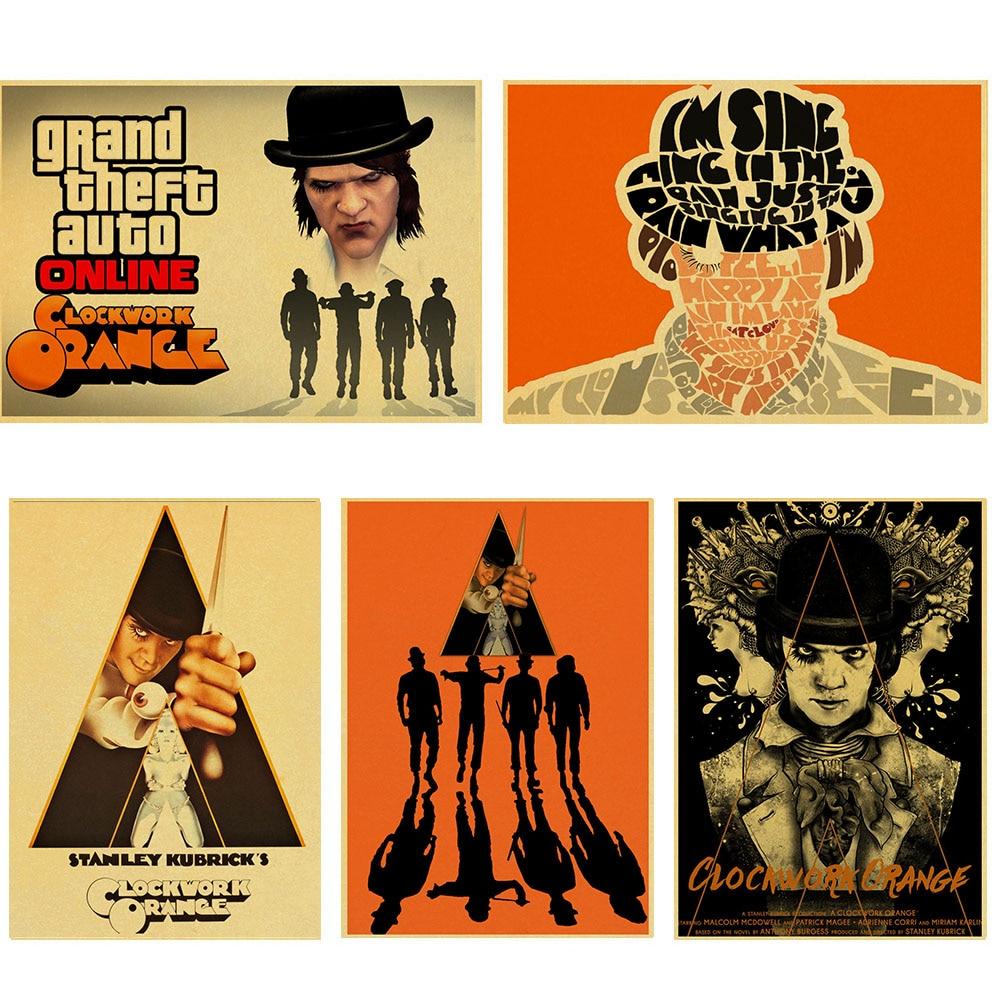 classic movie A Clockwork Orange Anthony Burgess Alex vintage Retro Poster Kraft Paper For Home Bar Wall  Bar Kids Room