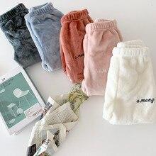 2019 winter new girls' warm pants home pants comfortable casual pants  girls winter
