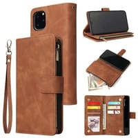 for funda huawei p30 phone case luxury zipper leather wallet card holder cover for huawei p20 lite 2019 honor 20 pro 10i shell
