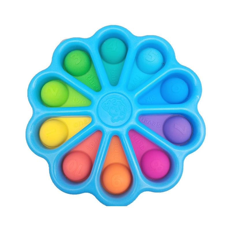 New Dimple Toy Flower Fidget Toys Stress Relief Hand Toys Early Educational For Kids Adults Anxiety Autism Toys enlarge