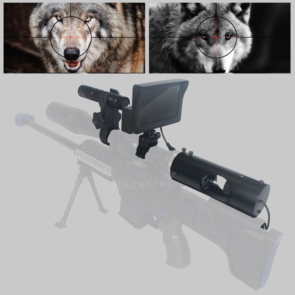 Novo binóculos de visão noturna para caça, ao ar livre, telescópio, visão noturna, com lcd e lanterna ir, sem bateria, imperdível