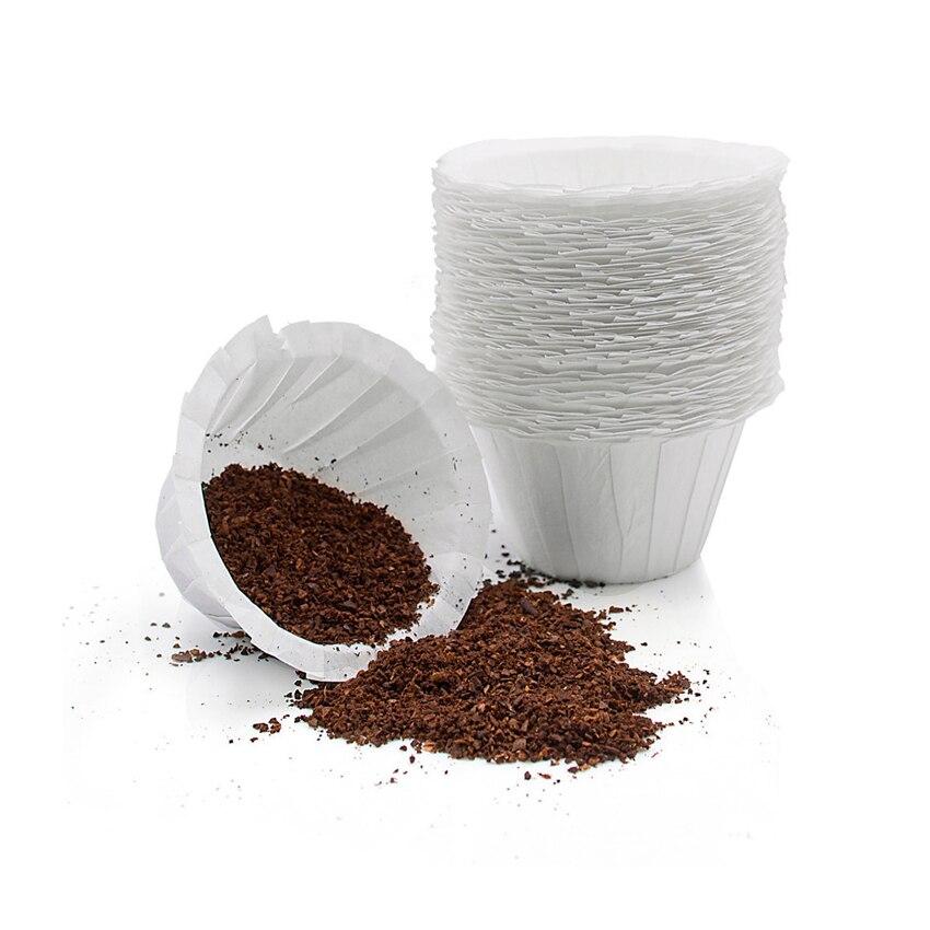 Support réutilisable rechargeable K   Tasse de filtre à café, tasse de filtre jetable, tasse de filtre, purification de leau, Capsule de papier, environnement facile à nettoyer