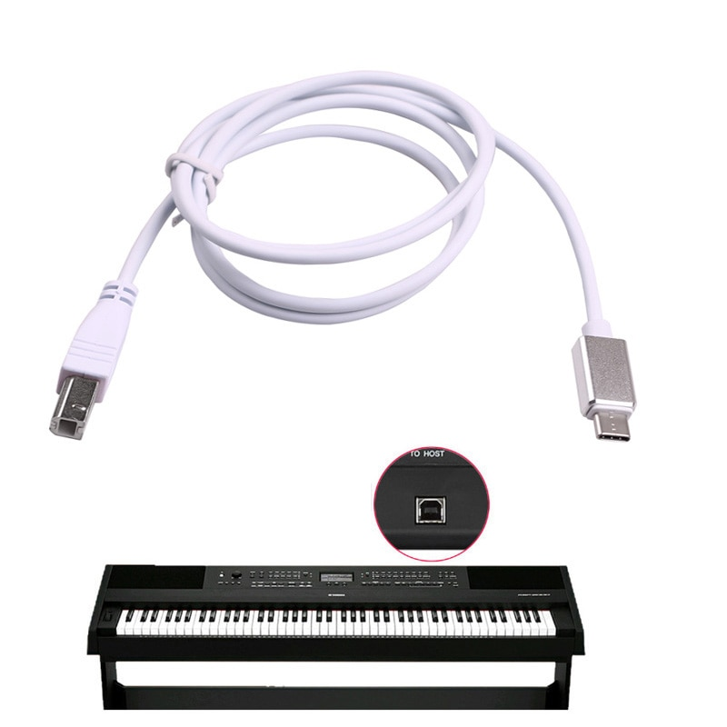 Cable tipo C OTG para LeTV para Huawei, conexión a impresora, línea de micrófono, Piano, tambor electrónico, teclado MIDI