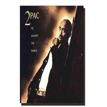 Z147 Tupac 2pac Me contre Rap star   Affiche de musique, film dart en tissu, 14x21 24x36, décoration murale pour salle de séjour