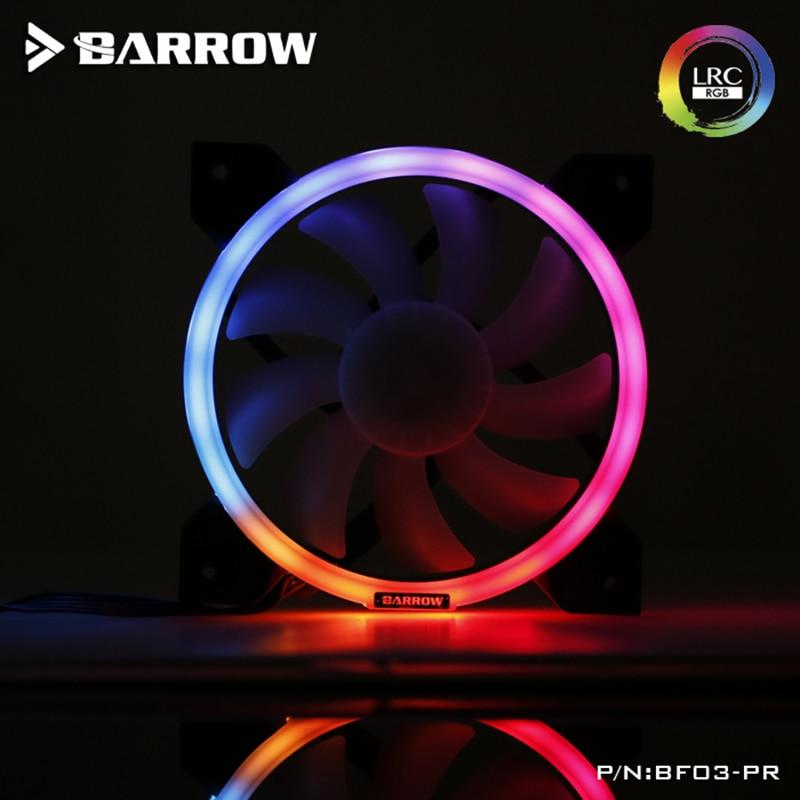 Barrow BF03-PR/BF04-PR LRC2.0(5v 3pin) PWM Fans Water Cooling Radiator Fans, Hydraulic Bearings , Adjustable Ring Lighting