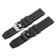 23mm silicone souple caoutchouc naturel bracelet de montre noir bande adaptation Luminox plongée montre accessoires