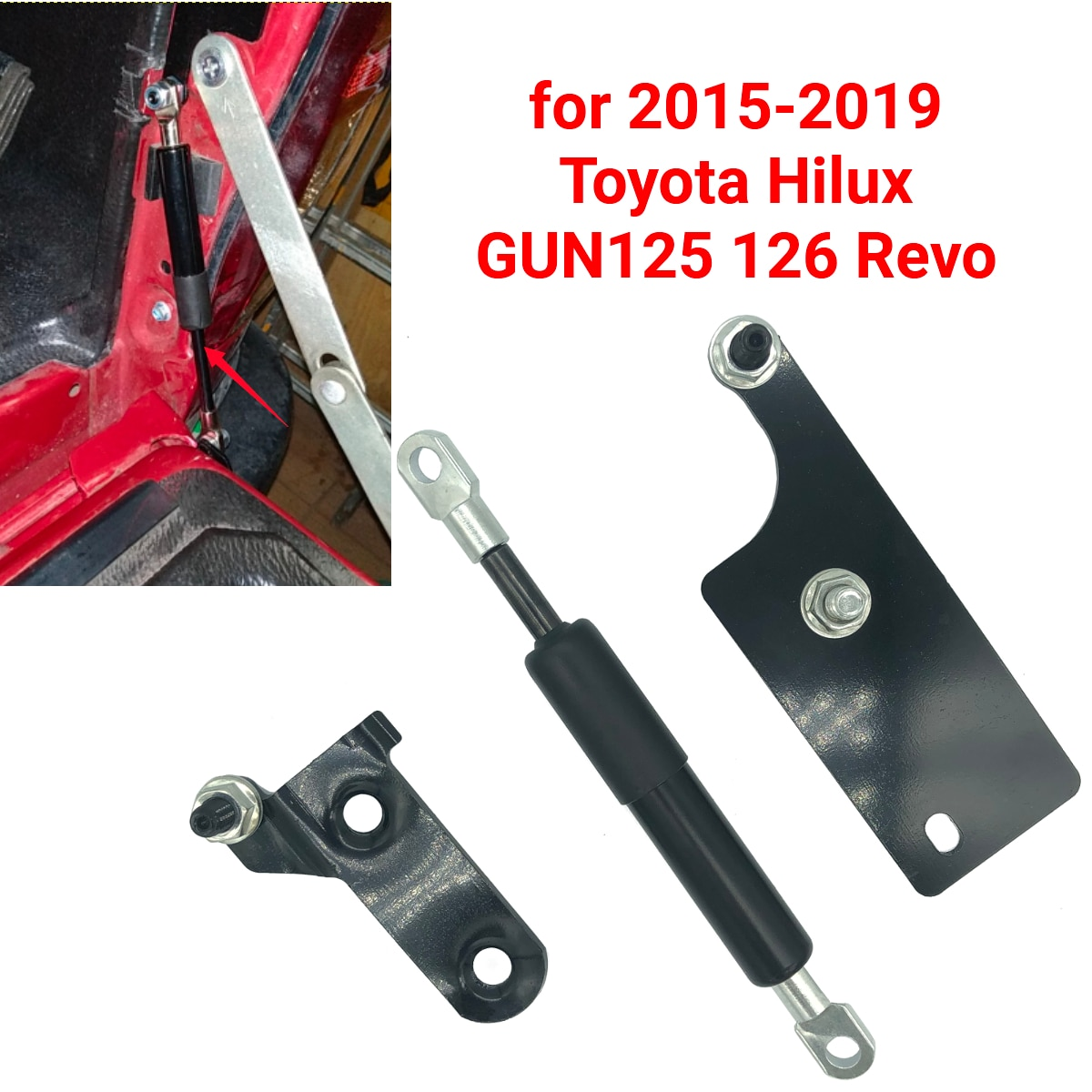 Porta traseira do carro lento para baixo suporte haste elevador strut barra amortecedor de choque gás para toyota hilux gun125 revo 2015 2016 2017 2018 2019
