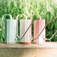 1 2l long mouth watering can practical flowers gardening tools handle plastic plant sprinkler potted home kettle irrigation