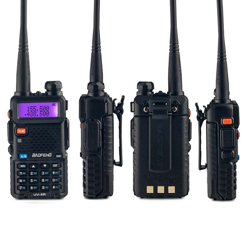 2Sets UV 5R Walkie Talkie Radio Station Comunicador UV-5R HAM Transceiver Dual-Band Intercom Handheld Talkie Walkie UV5R