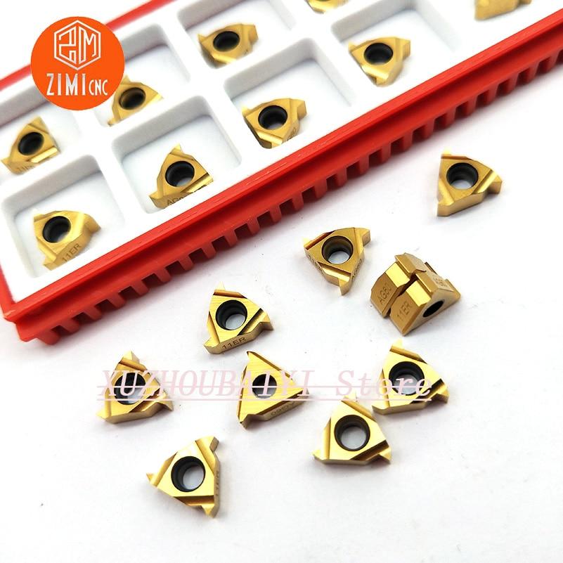 11ER A60 hartmetall einsätze hohe qualität rechtshänder externe gewinde einsätze 100% original für gewinde drehen werkzeuge langweilig einsätze