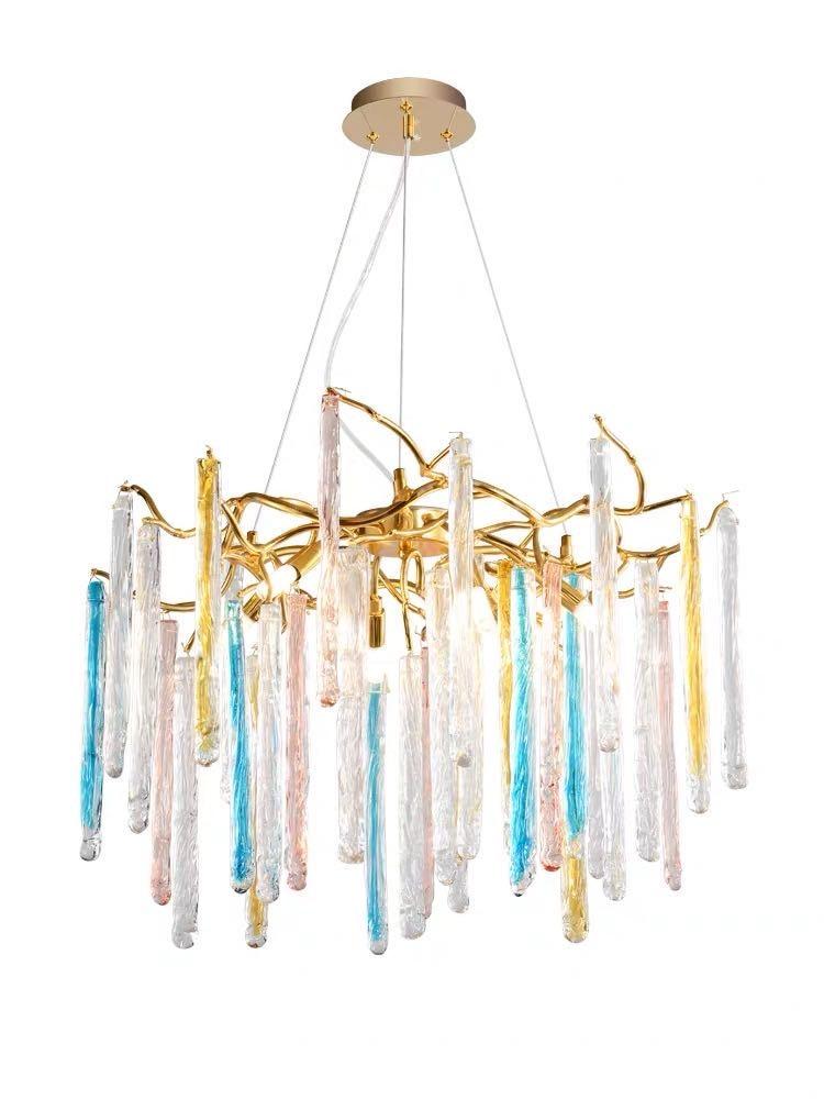 LED ما بعد الحداثة كريستال الذهب أضواء الثريا واضحة lamvillage دي تيكو تعليق الإنارة Lampen لغرفة الطعام