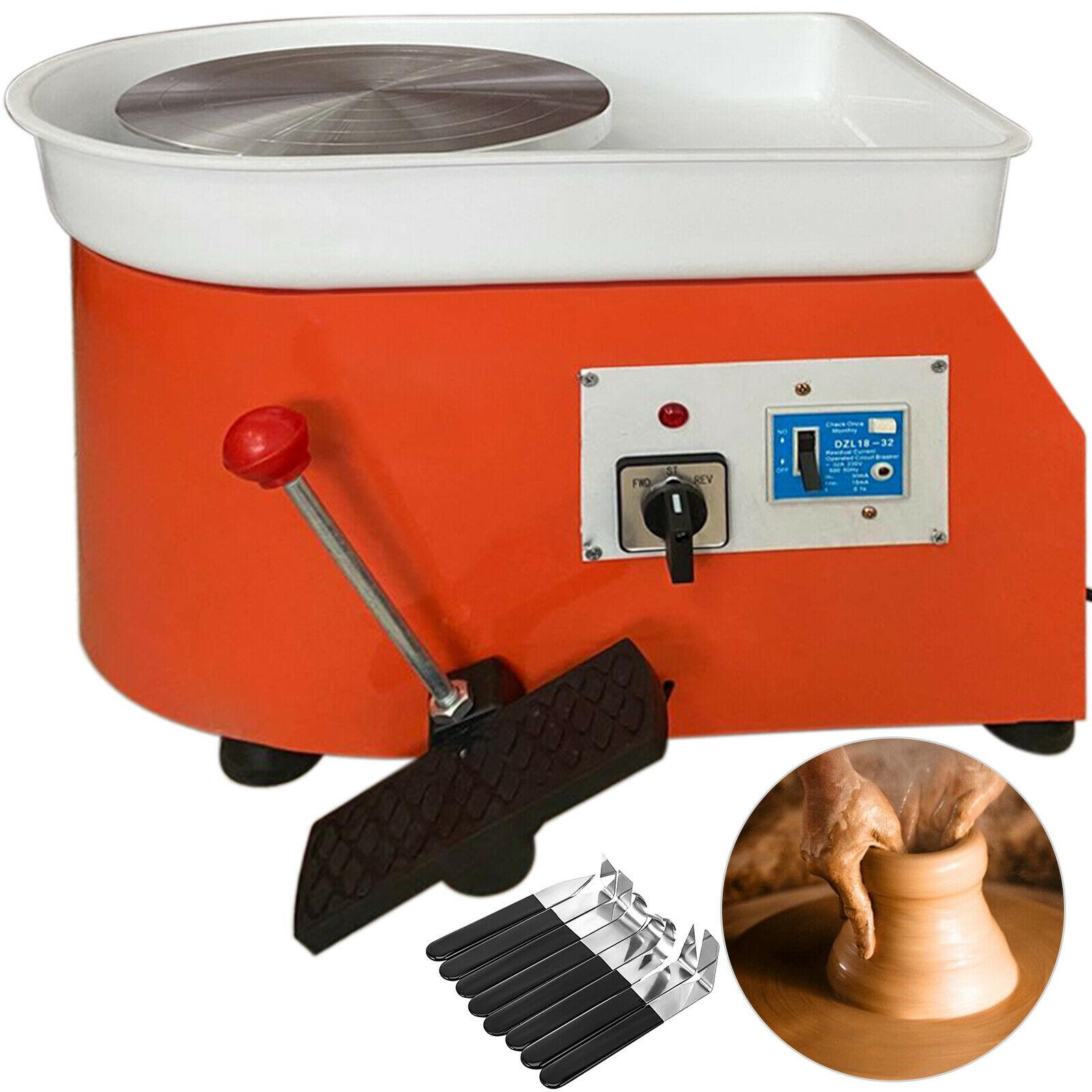 280W Elektrische Keramik Rad Keramik Forming Maschine 25cm mit Verstellbaren Füßen Hebel Pedal Ton Werkzeug mit Tablett Shapping werkzeug Set