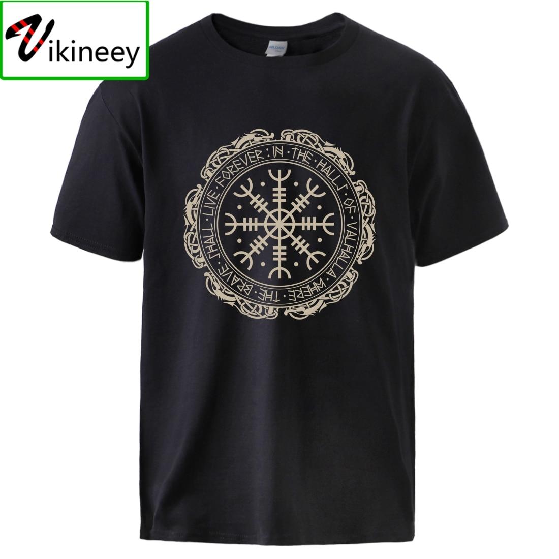 Vikingos Tshirts camisetas de algodón para hombre, Son de Odín, ir a Valhalla, sudaderas de manga corta de Hip Hop, 2020, Camisas