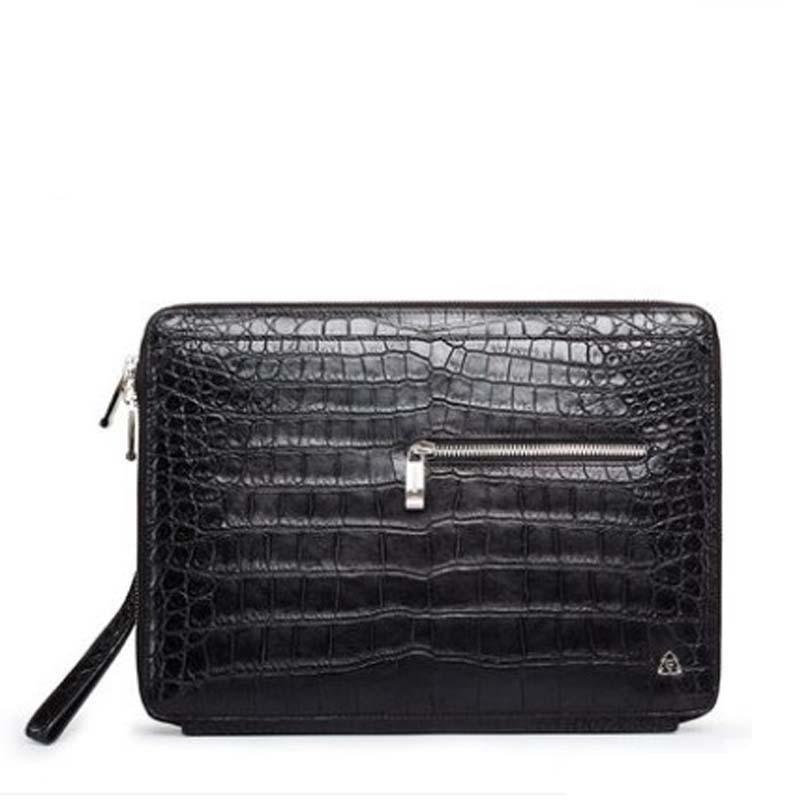 gete new New Thai crocodile leather men hand bag men's crocodile skin  large capacity wrist bag crocodile bag men's clutch bag