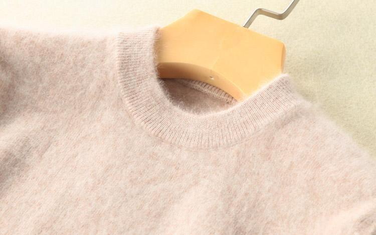 Suéter de cachemira de gamuza pura súper cálida y suéter de mujer suéter de otoño e invierno suéter de cuello alto para mujer enlarge