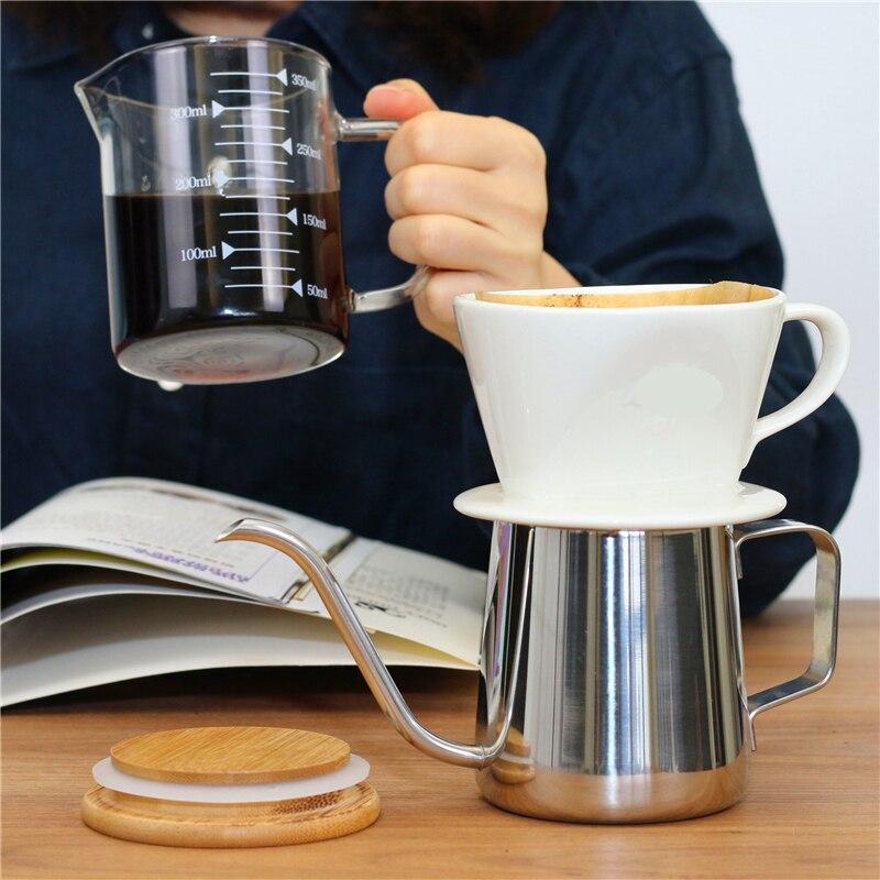 Filtro de café de cerámica reutilizable, accesorios de cocina, herramientas de Barista...