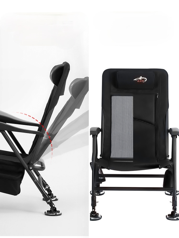 Multifunctional Reclining Fishing Chair European Style Fishing Chair Folding Wild Fishing Seat for All-terrain Table enlarge