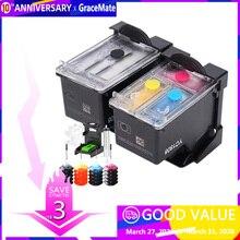 Popular In Oceania 63 63XL Refillable Ink Cartridgefor HP Officejet 3833 3832 3834  4650 3830 HP DeskJet 2130 1112 3632 Printer