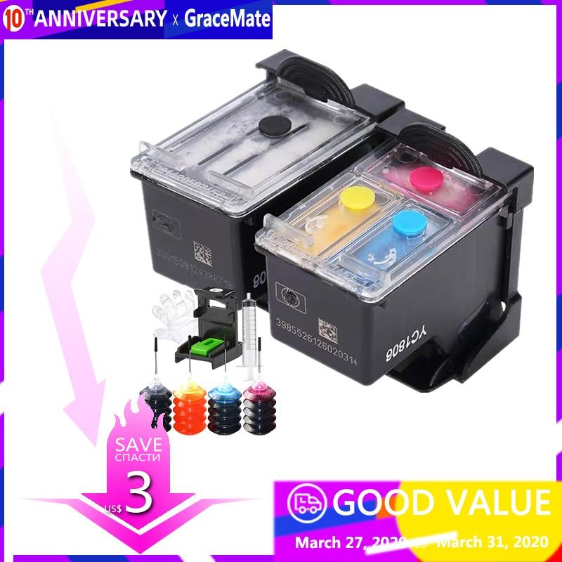 Popular na oceania 63 63xl tinta recarregável dgedgefor hp officejet 3833 3832 3834 4650 3830 hp deskjet 2130 1112 3632 impressora