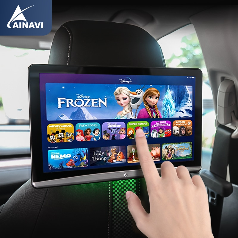 Car TV Headrest Monitor Touch Screen 10.6 Inch Android 9.0 4K 1080P WIFI/Bluetooth/USB/SD/HDMI/FM/Mirror Link Movie Video Player