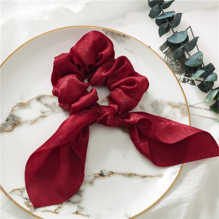 Novi šifonski elastični trakovi za lase za ženske in deklice, - Oblačilni dodatki - Fotografija 3