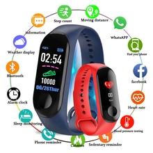 M3 Men Women Fitness Tracker Sports Smart Watch Bracelet Heart Rate Blood Pressure Monitor Health Wr