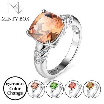 Zultanite Color Change Turkish Zultanite Sterling Silver Women's Ring S925 Fine Jewelry Women's Gift Classic Style