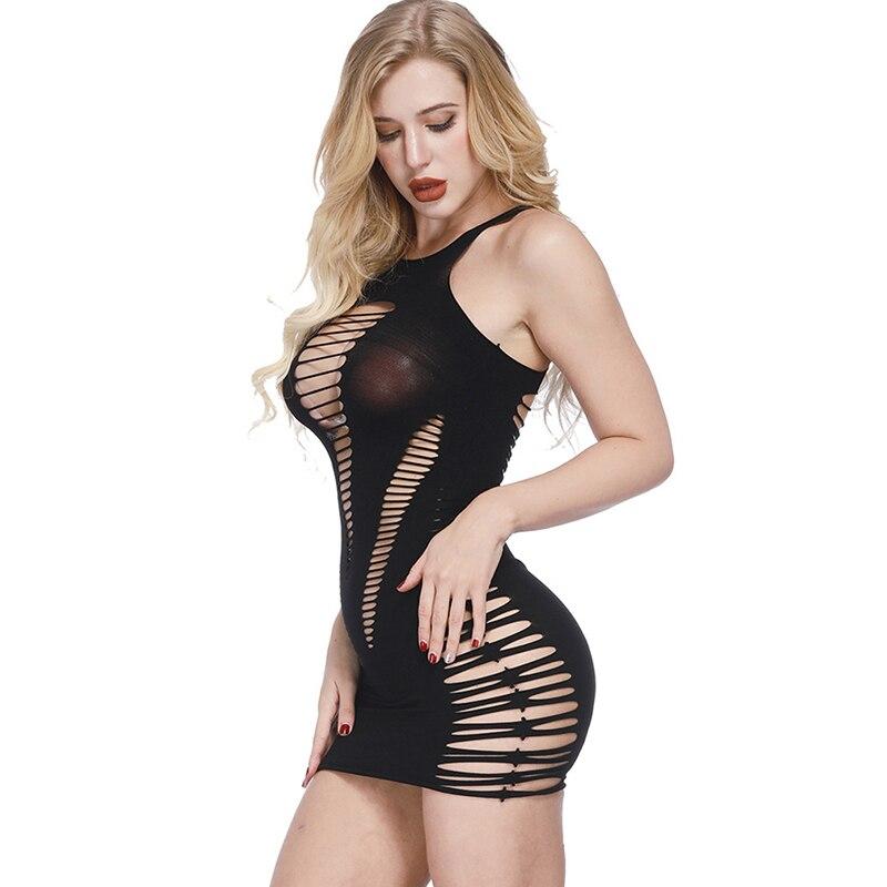 Hollow Out Sleepwear Women Sexy Underwear Ladies Lingerie Sexy Babydoll Dress Sleepwear Chemise Dress Feminino Vestido