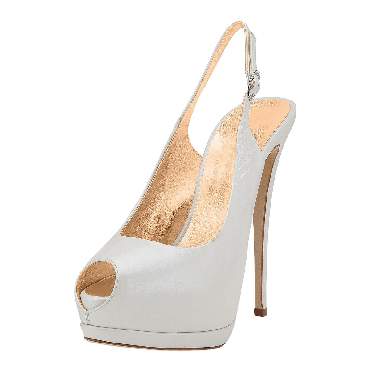 Классические свадебные туфли с открытым носком на платформе женские туфли на шпильке женская обувь свадебные туфли на высоком каблуке
