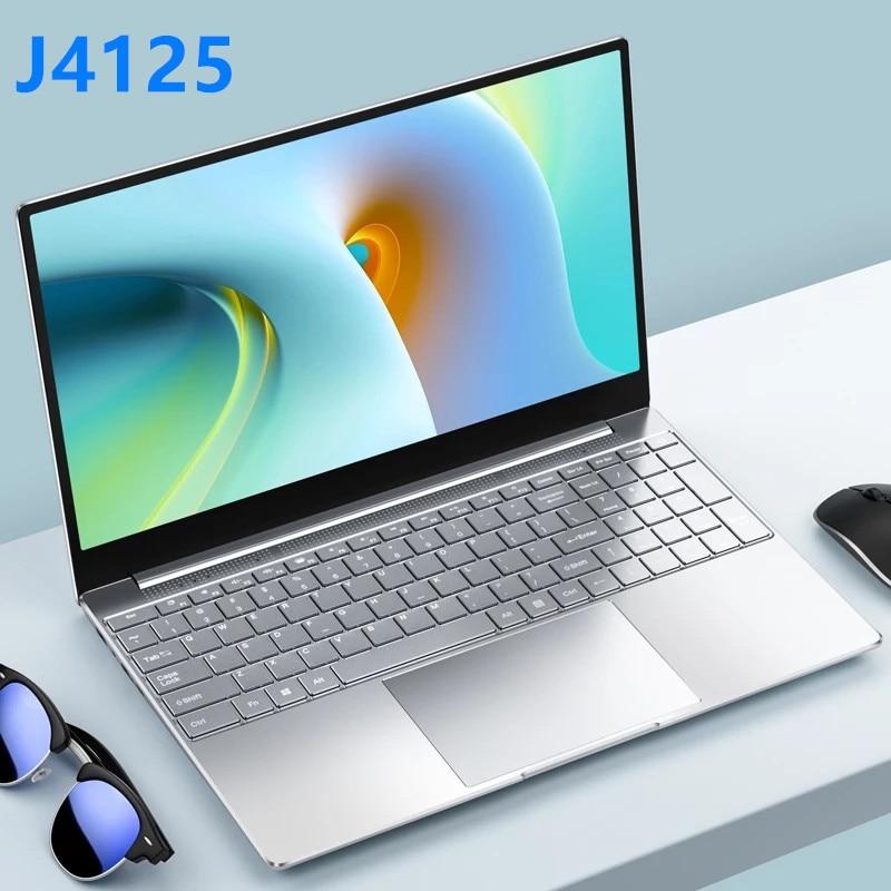 2021 New Intel Celeron J4125 Laptop 15.6 inch Windows 10 Pro 1920*1080 8GB RAM 128GB/256GB/512GB/1TB SSD HDMI Notebook